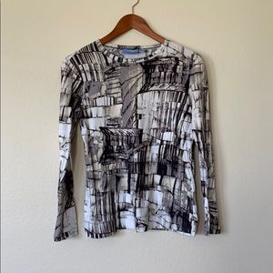 Simply Vera Vera Wang Geometric Shirt